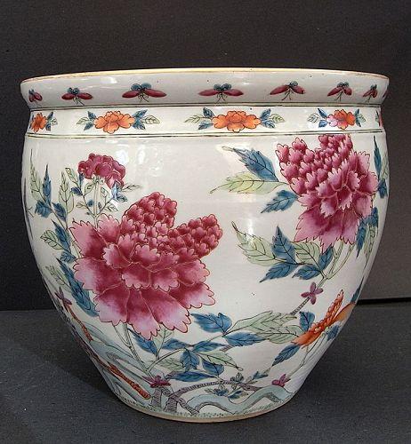 Chinese 19th cent  Porcelain Fish Basin; Kangxi mark