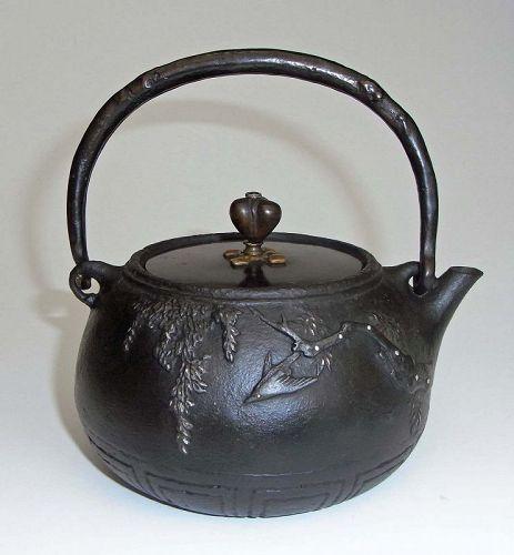 Japanese Tetsubin, Water Kettle for Tea Ceremony