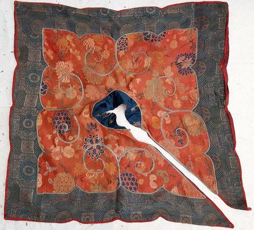 Rare Tibetan Ritual Masked Dance 'Cloud Collar� Silk Brocade.