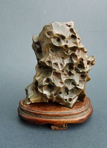 Antique Chinese Scholar Rock Wax Stone Gongshi