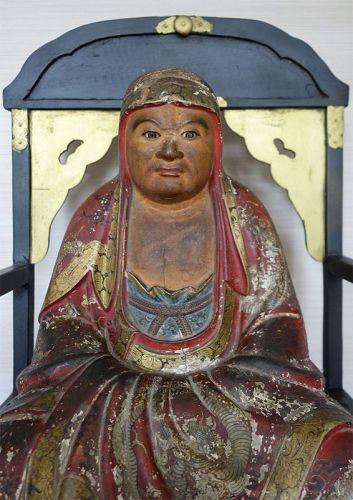 Large Sculpture of Daruma,  Patriarch of Japanese Zen Buddhism.