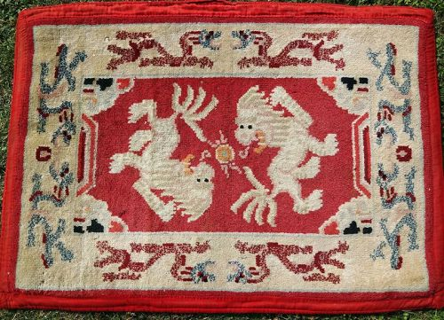 Complete Set of Tibetan Saddle Rugs with Snow Lions design