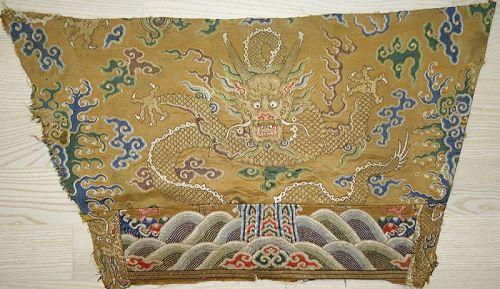 A Fine Imperial Silk Brocade Robe Fragment