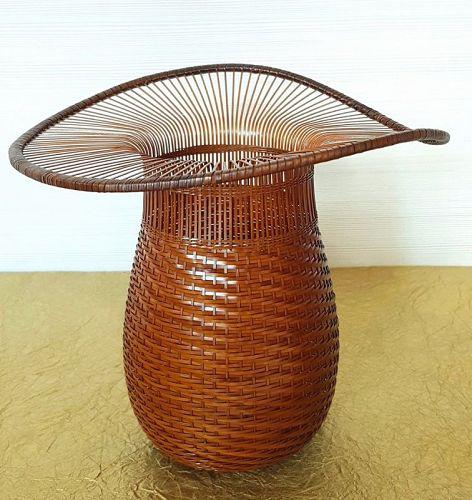 Morigami Jin Bamboo Flower Basket Hanakago, �Tojingasa�