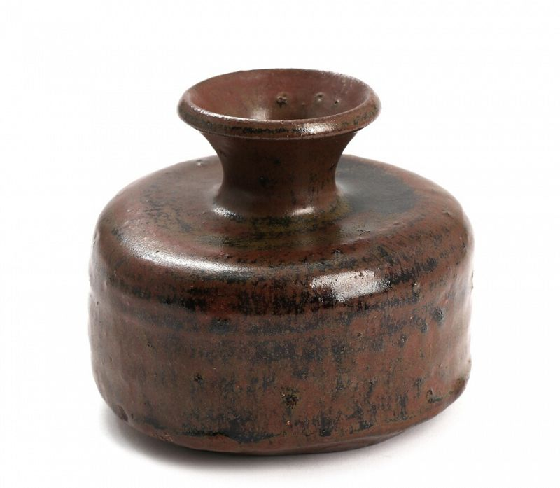 Seto Yaki Squat Vase by Kato Shuntei II