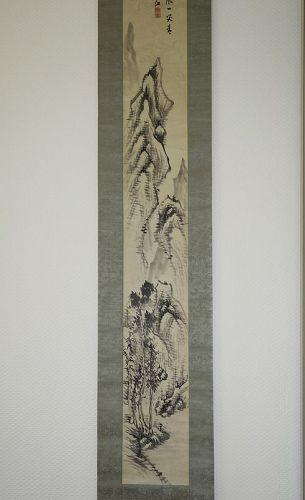 Long Scroll Landscape Painting by Okada Hanko (1782-1846)