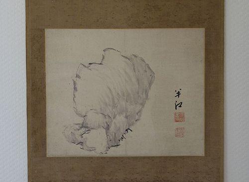 A Minimalistic Hanging Scroll Painting by Okada Hanko