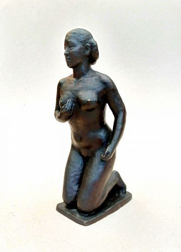 Tachikawa Yoshiaki (1918 - 2017), Showa Period Bronze Sculpture