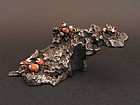 Unique Miniature iron rock with crabs.