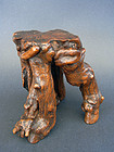 Natural, gnarled root wood stand