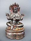 Four Arms seated MAHAKALA, Protector of the Dharma
