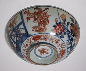 Lid to Genroku Bowl with Bijin Motif, c. 1700