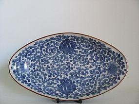 Rare Ai Kakiemon Tako-Karakusa Shaped Dish c.1680