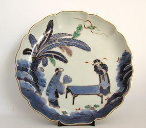 Ko Imari Sennin Zu Dish c.1750-80