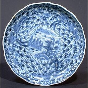 Ko Imari Shochikubai Pattern Dish Early 18C