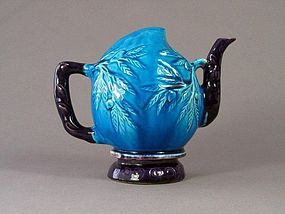 Chinese Porcelain Turquoise & Aubergine 'Cadogan' Ewer