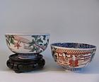 Pair Chinese Subject Imari bowls Meji 19C