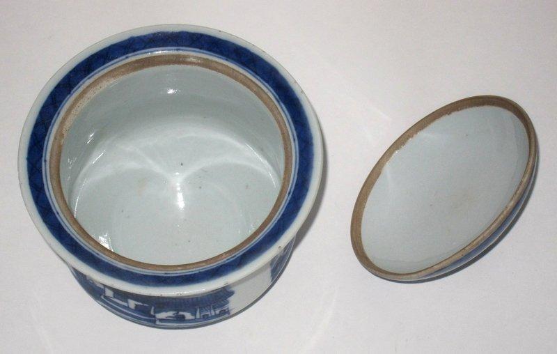 Rare Canton Handleless Sugar Bowl c. 1880-1910