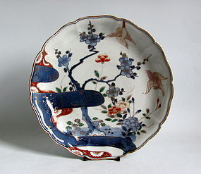 Imari Large Ume ni Uguisu �Thumb and Finger� Dish c1750