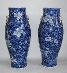Fine Pair Large Seto Kato Mokuzaemon Vases Meji 19C