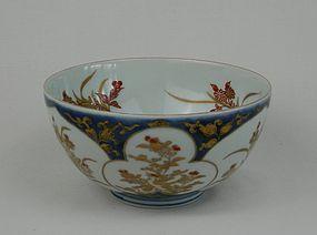 Fine Imari Pheasants and Chrysanthemum pattern Bowl 18C