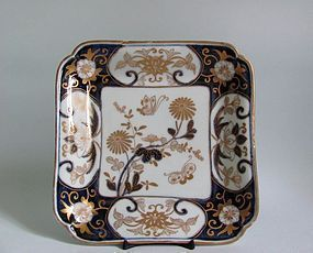 Imari  Chrysanthemum and Butterflies Square Dish c.1700