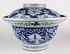 Huge Arita Bowl with Lid - c. 1820-1850