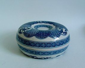 Ko Imari Shonsui Ring Shaped Box Late Edo c.1850