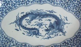 Fine Ai Kakiemon Unryu-zu Nagazara c.1680