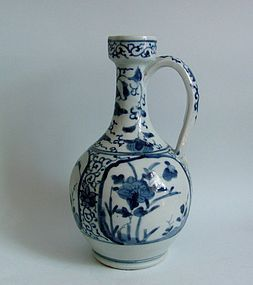 Ko Imari Botan-zu Arita Wine Jug c1680