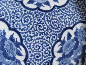 Ko Imari San Shishi Tako Karakusa Dish c.1710-30 No 1