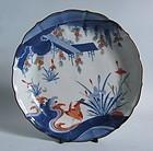 Fine Kakiemon �Tale of Ise� Dish c.1680
