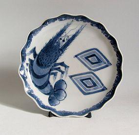 Rare Ko Imari Ichikawa Ebizō Dish c.1820 Edo