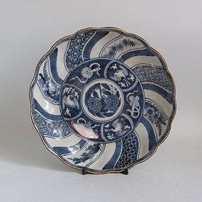 Fine Arita Shochikubai and Shonsui Dish c.1750-80