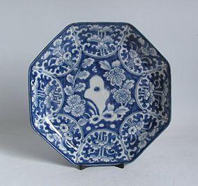 Ko Imari Kiku no Iwa Octagonal Dish c.1780 No 1