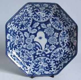 Ko Imari Kiku no Iwa Octagonal Dish c.1780 No 2