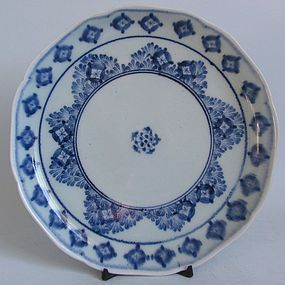 Arita Shippo pattern Dish Genroku c.1700