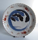 Ko imari Nabeshima style Daikon-zu Dish c.1730
