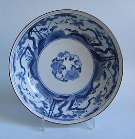 Ai Kakiemon Shochikubai Large Dish c.1700