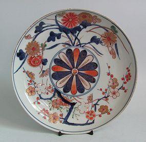 Fine Imari Chrysanthemum and Prunus Dish c.1700