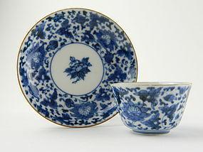 Arita Teabowl and Saucer c.1700