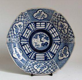 Arita Ko Sometsuke Chongzhen style Hexagonal Dish c.1780 No 1
