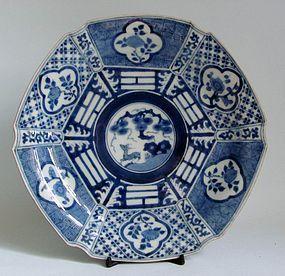 Arita Ko Sometsuke Chongzhen style Hexagonal Dish c.1780 No 3