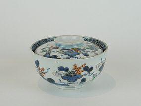 Ko Imari Grape pattern Bowl and Cover No 1