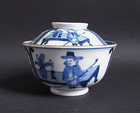 Rare Ko Imari Hollander Rice Bowl and Cover c.1820 No 1