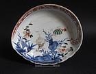 Ko Imari Marine subject Abalone Shaped Dish c.1750