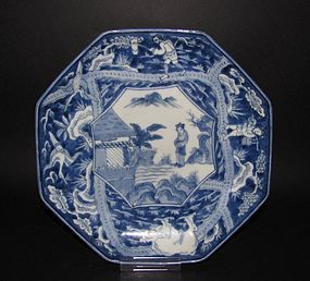 Ko Imari Shun and the Elephants Octagonal Dish c.1780
