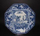 Ko Imari Shun and the Elephants Octagonal Dish c.1780