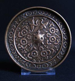 Japanese Bronze Mirror 14th Century Kamakura-Nambokucho