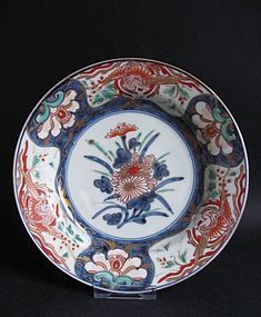 Imari  Export Hoo birds and Kiri flower Plate c.1730 No 2